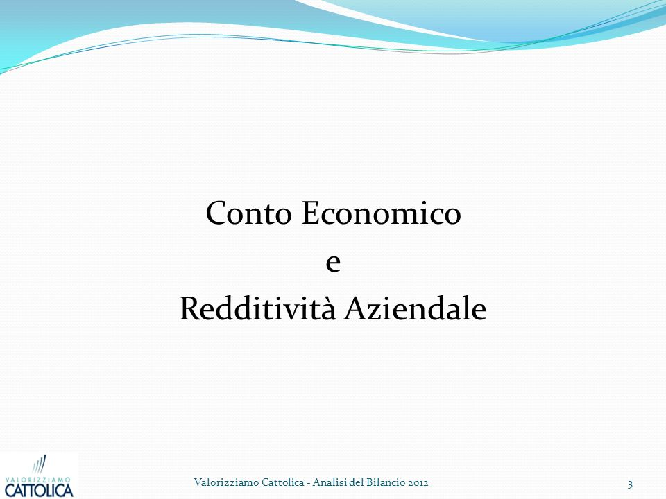 Conto Economico e Redditività Aziendale