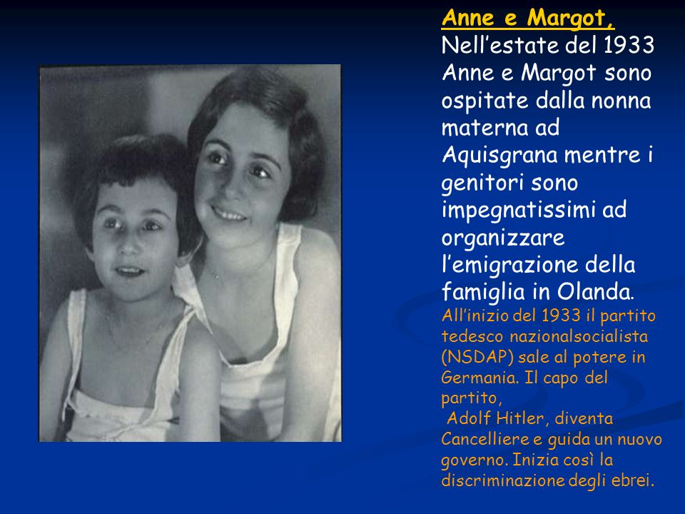 Anne e Margot,