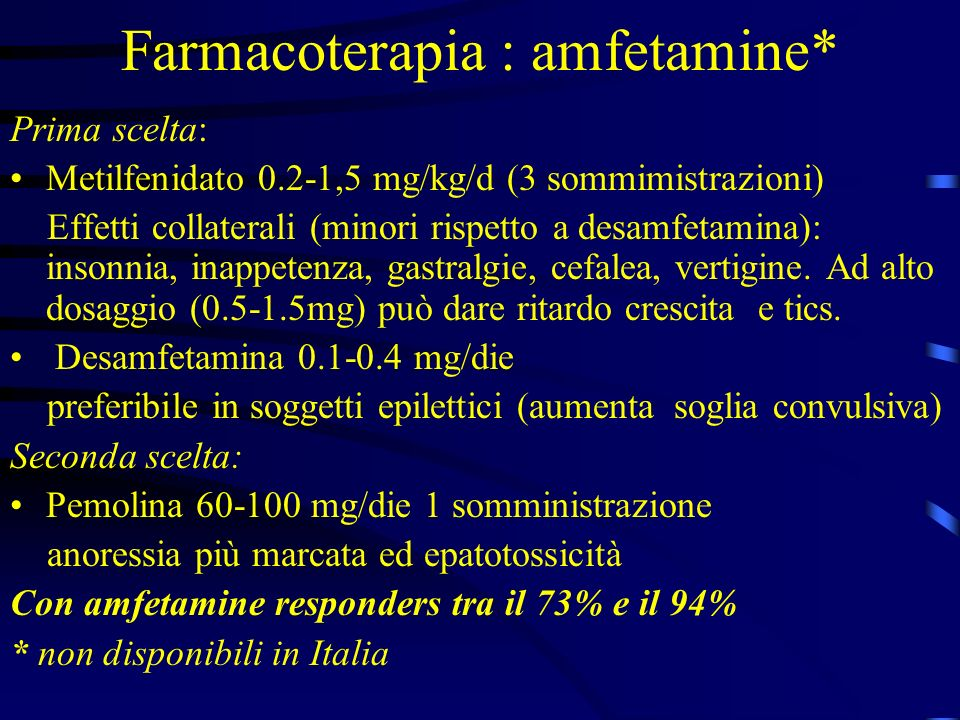 Farmacoterapia : amfetamine*