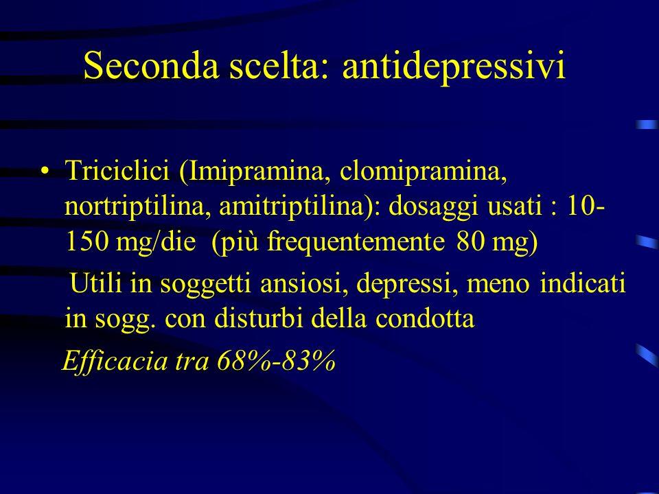 Seconda scelta: antidepressivi