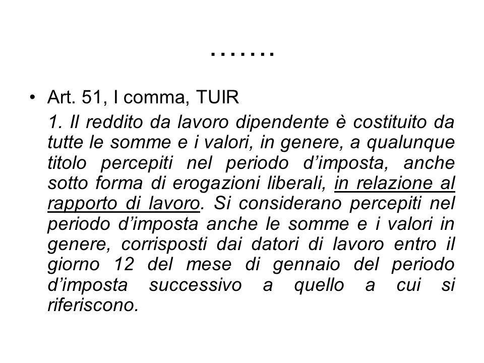 ……. Art. 51, I comma, TUIR.
