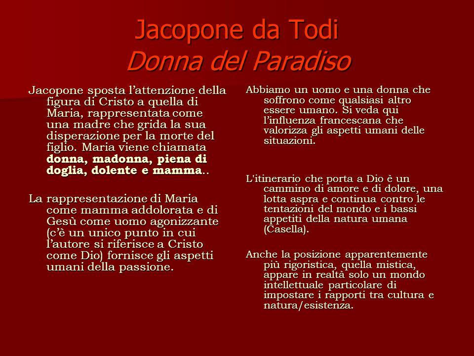 Jacopone da Todi Donna del Paradiso