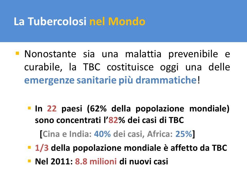 La Tubercolosi nel Mondo