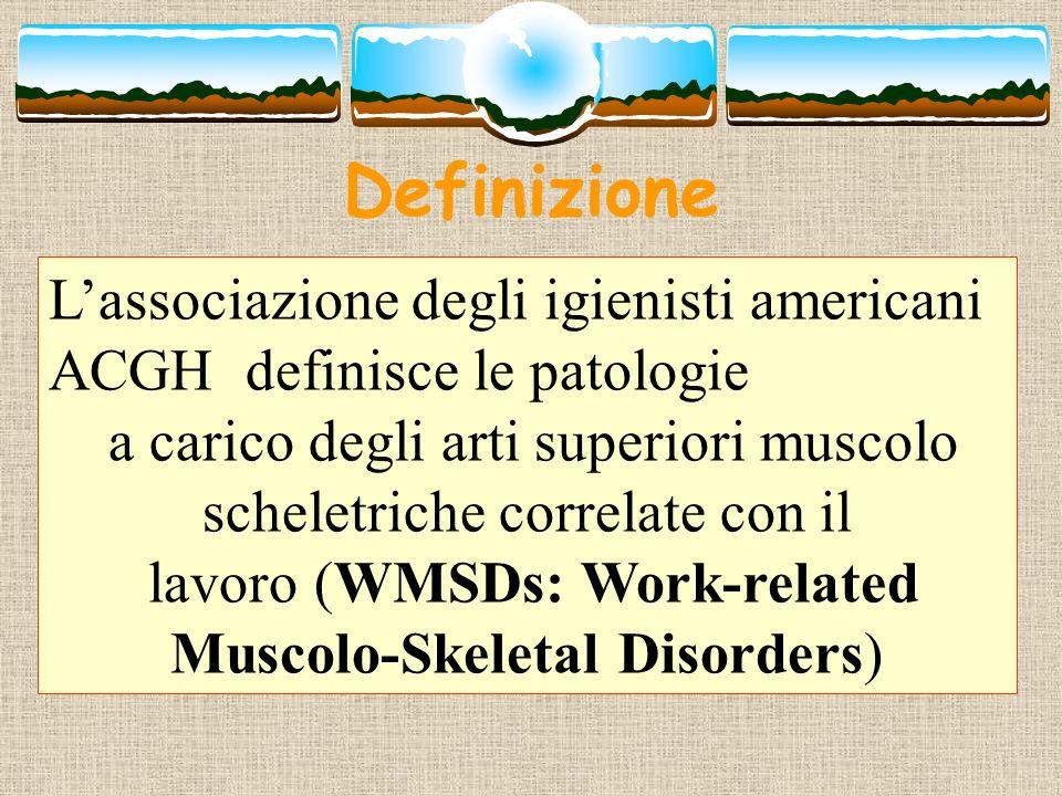 Definizione L'associazione degli igienisti americani ACGH definisce le patologie.