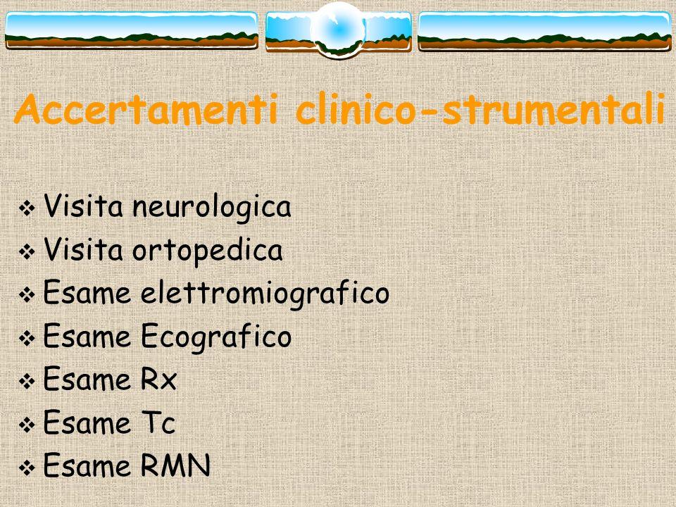 Accertamenti clinico-strumentali