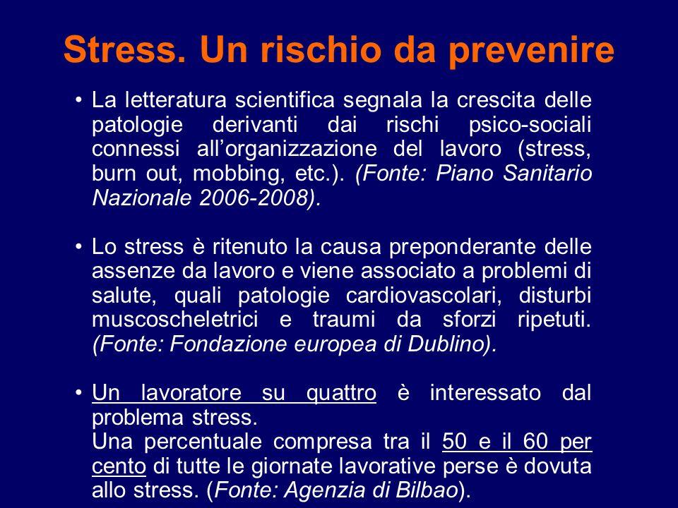 Stress. Un rischio da prevenire