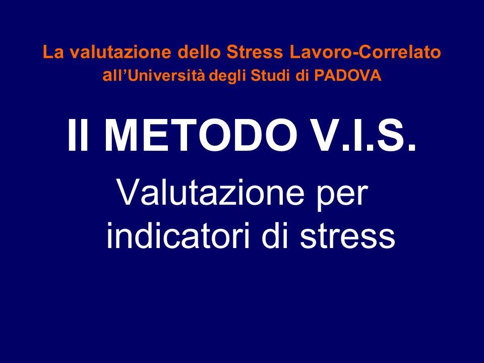 Valutazione per indicatori di stress