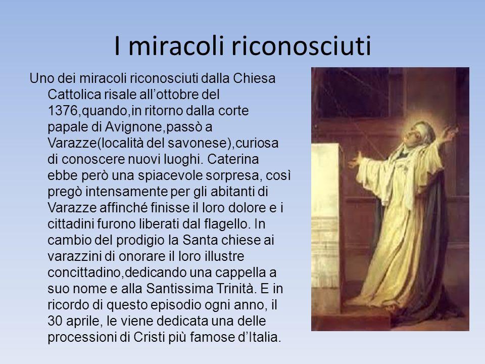 I miracoli riconosciuti