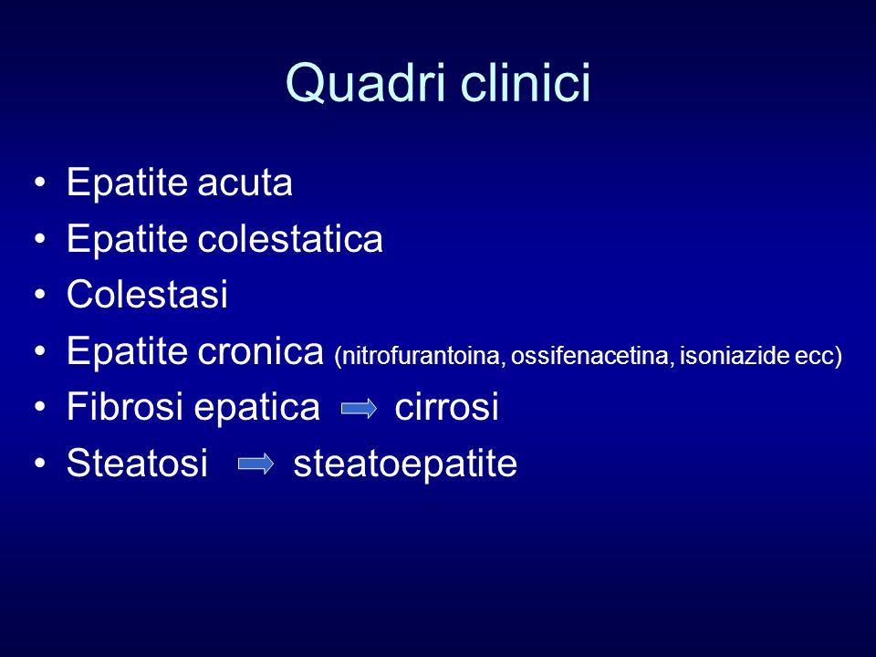 Quadri clinici Epatite acuta Epatite colestatica Colestasi