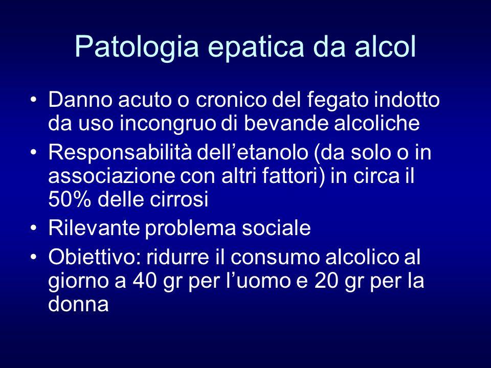 Patologia epatica da alcol