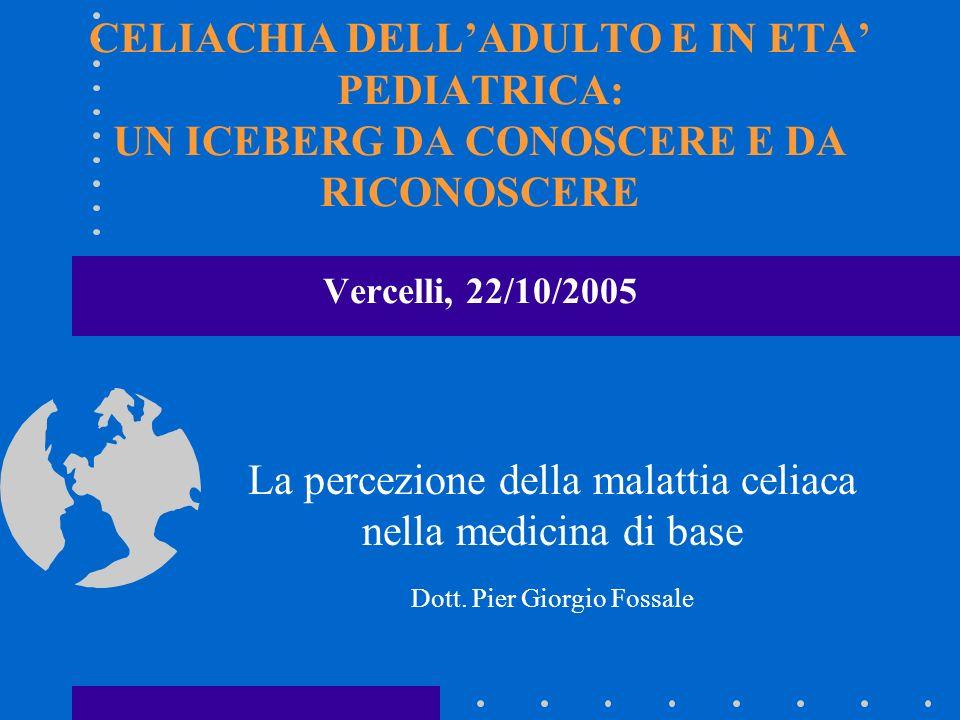 La percezione della malattia celiaca nella medicina di base