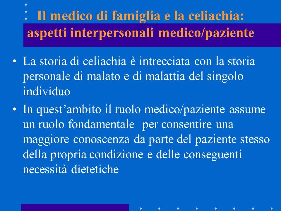 Il medico di famiglia e la celiachia: aspetti interpersonali medico/paziente