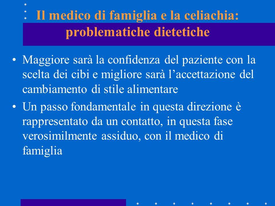 Il medico di famiglia e la celiachia: problematiche dietetiche