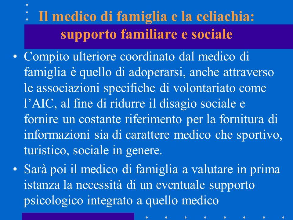 Il medico di famiglia e la celiachia: supporto familiare e sociale