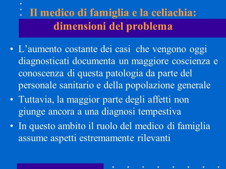 Il medico di famiglia e la celiachia: dimensioni del problema