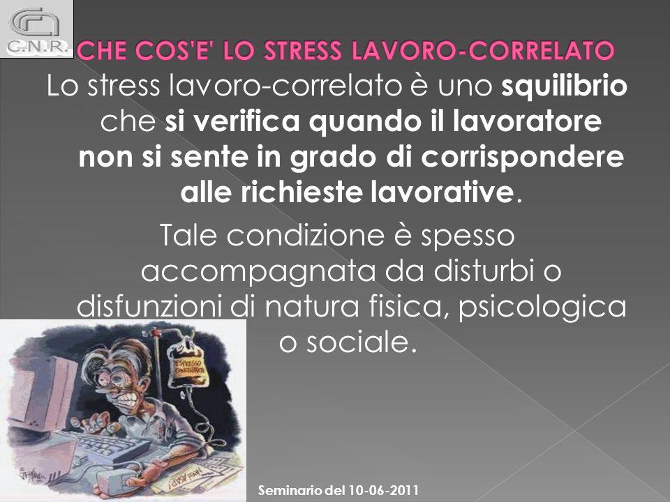 CHE COS E LO STRESS LAVORO-CORRELATO