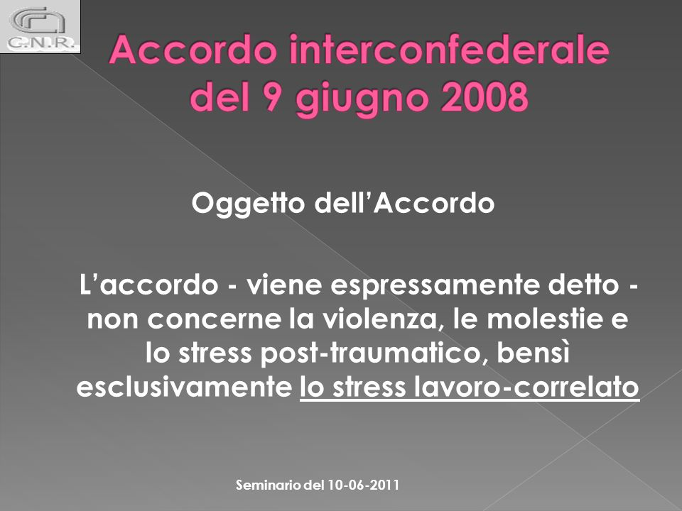Accordo interconfederale del 9 giugno 2008
