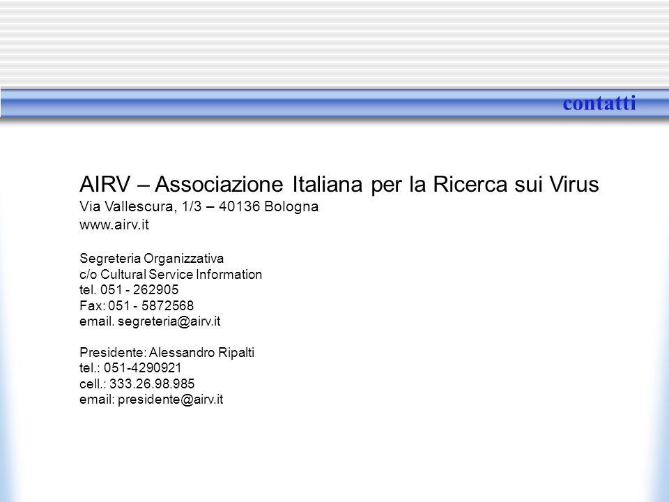 AIRV – Associazione Italiana per la Ricerca sui Virus