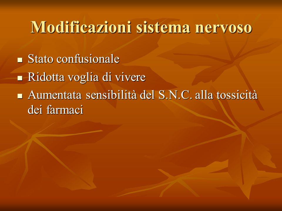 Modificazioni sistema nervoso