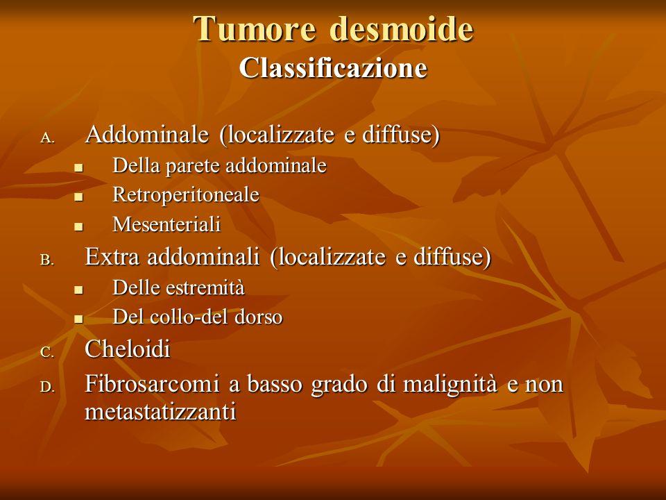 Tumore desmoide Classificazione