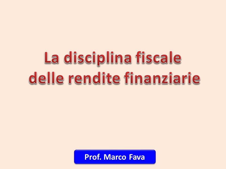 delle rendite finanziarie