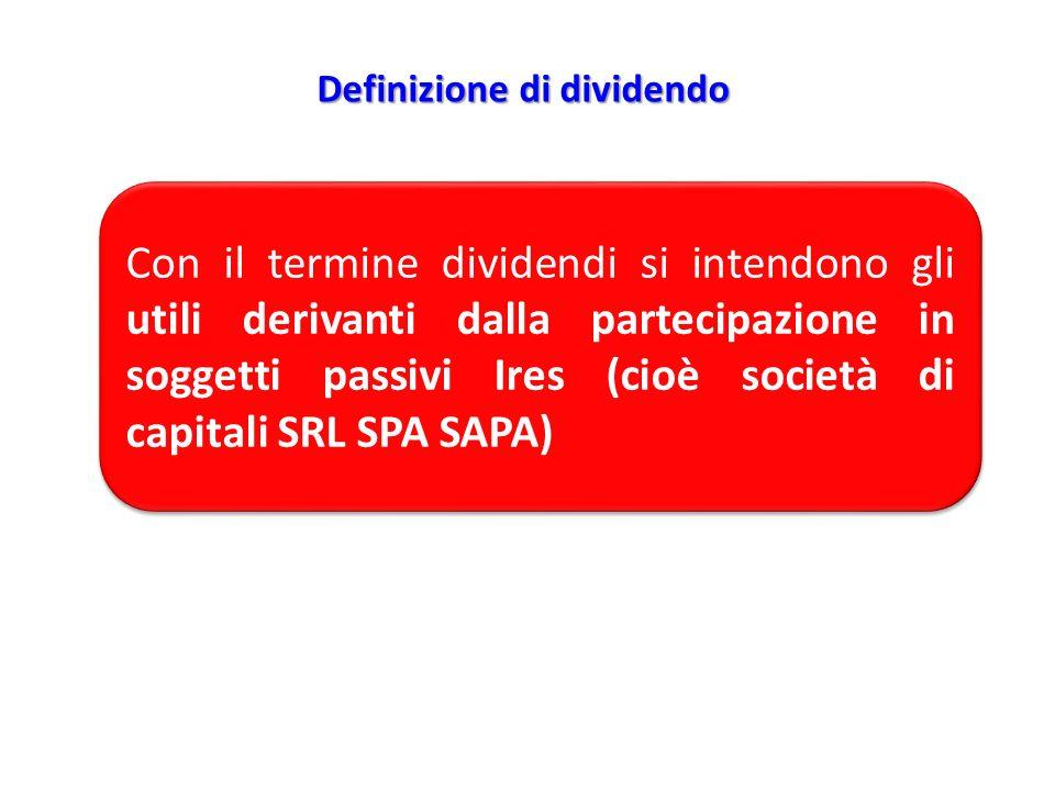 Definizione di dividendo