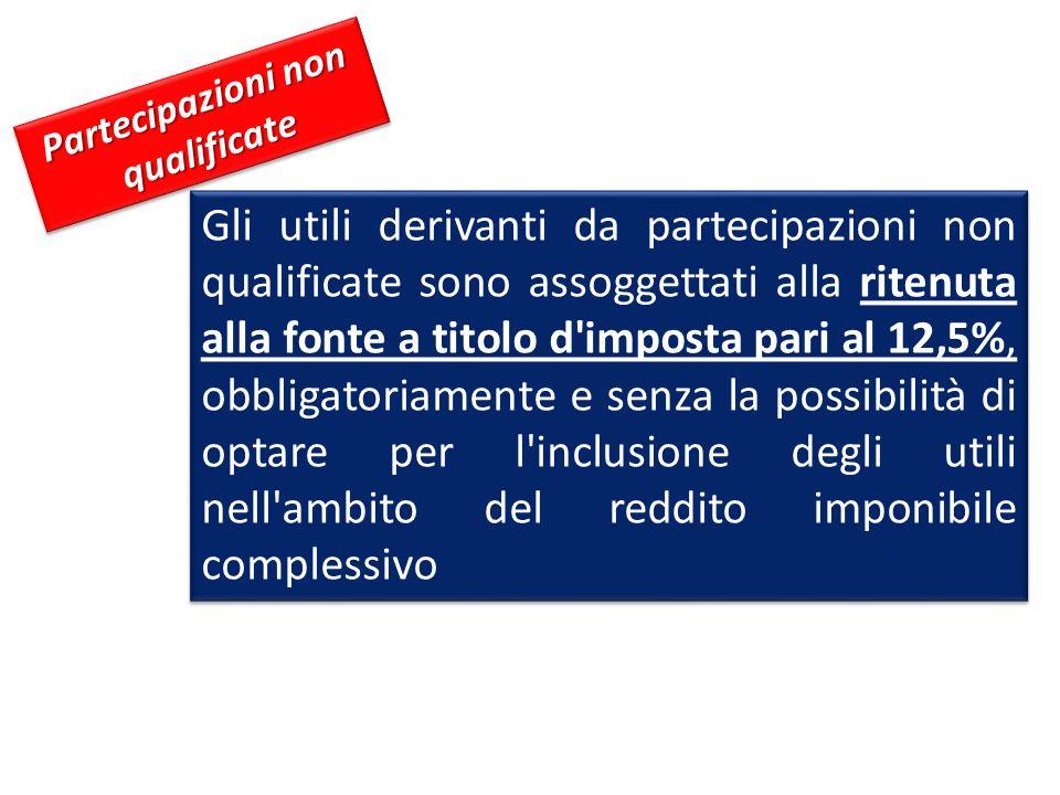 Partecipazioni non qualificate