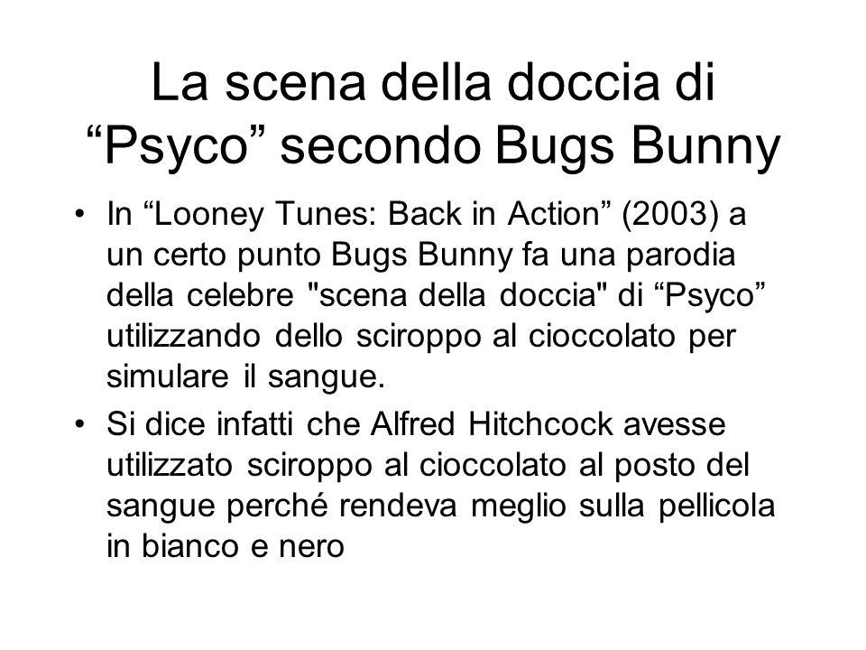 La scena della doccia di Psyco secondo Bugs Bunny