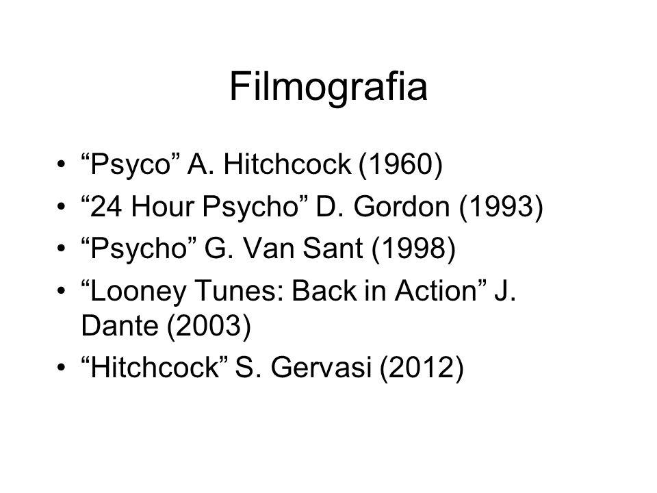 Filmografia Psyco A. Hitchcock (1960)