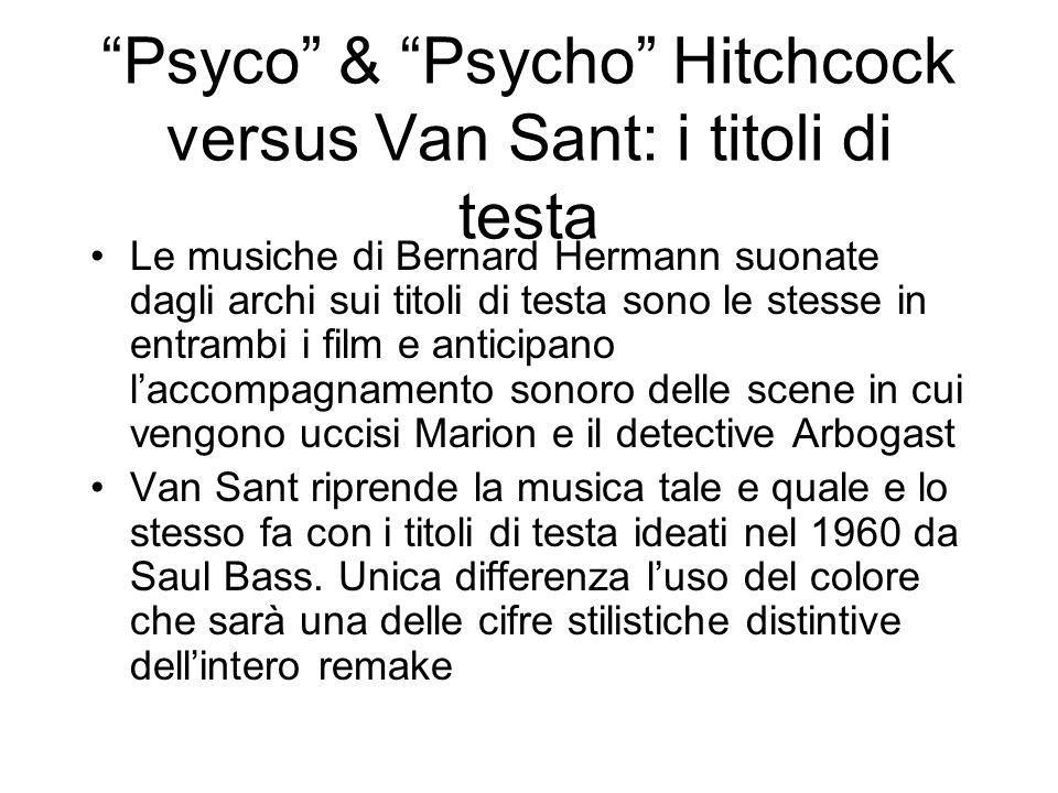 Psyco & Psycho Hitchcock versus Van Sant: i titoli di testa