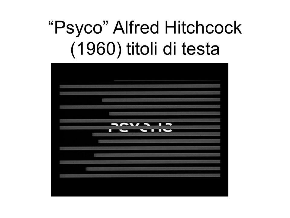 Psyco Alfred Hitchcock (1960) titoli di testa