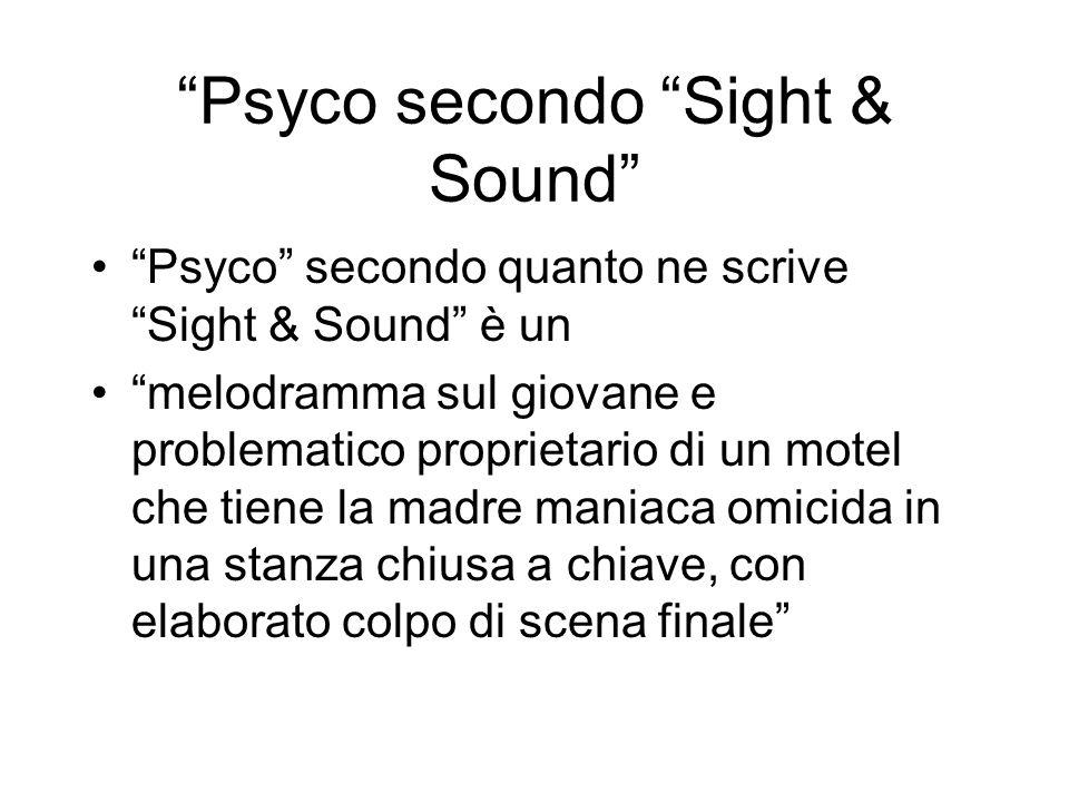 Psyco secondo Sight & Sound