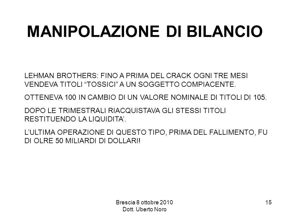 MANIPOLAZIONE DI BILANCIO