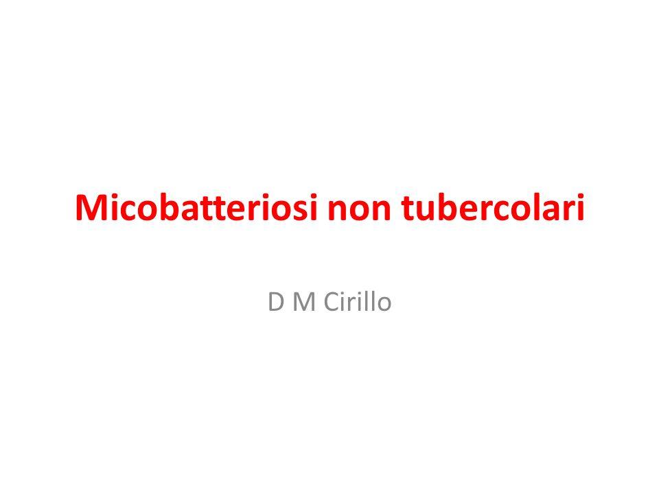 Micobatteriosi non tubercolari