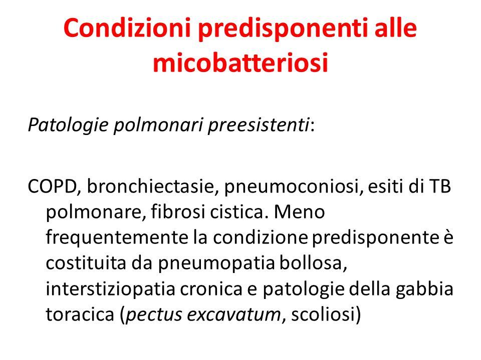 Condizioni predisponenti alle micobatteriosi