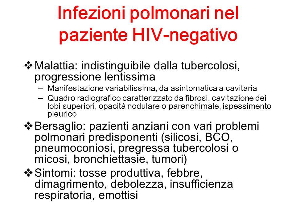 Infezioni polmonari nel paziente HIV-negativo