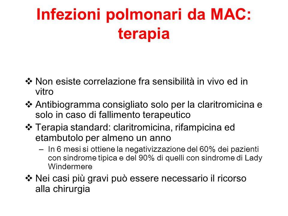 Infezioni polmonari da MAC: terapia