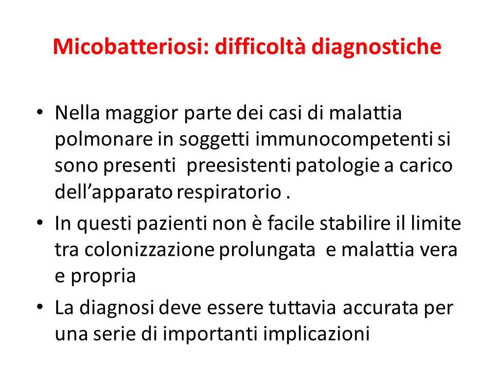 Micobatteriosi: difficoltà diagnostiche