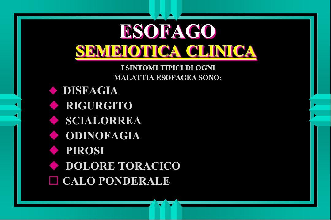 ESOFAGO SEMEIOTICA CLINICA
