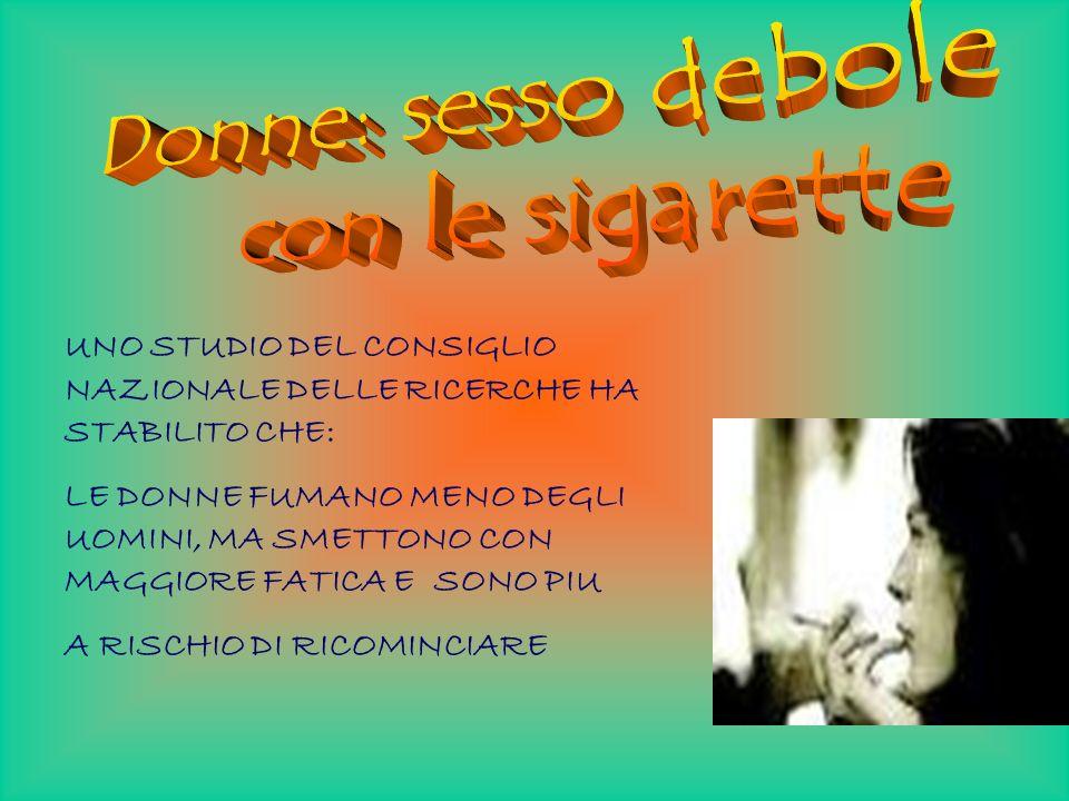 Donne: sesso debole con le sigarette