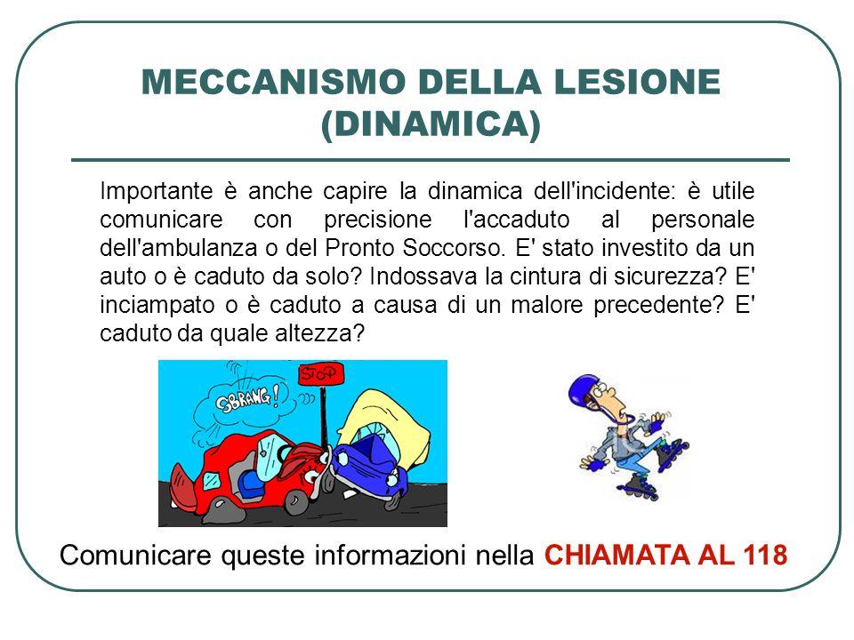 MECCANISMO DELLA LESIONE (DINAMICA)