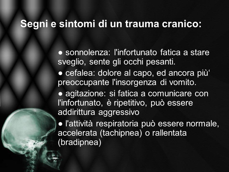 Segni e sintomi di un trauma cranico: