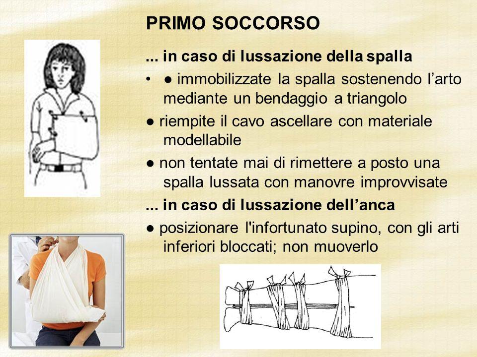 PRIMO SOCCORSO ... in caso di lussazione della spalla