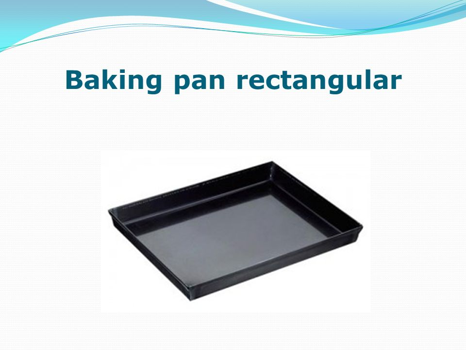 Baking pan rectangular