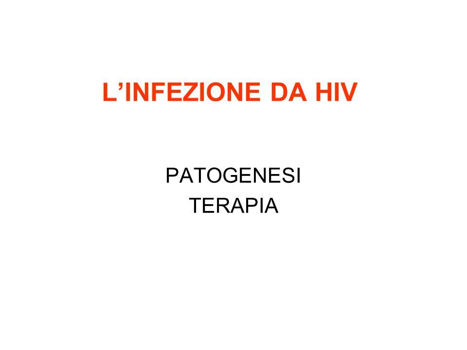 L'INFEZIONE DA HIV PATOGENESI TERAPIA