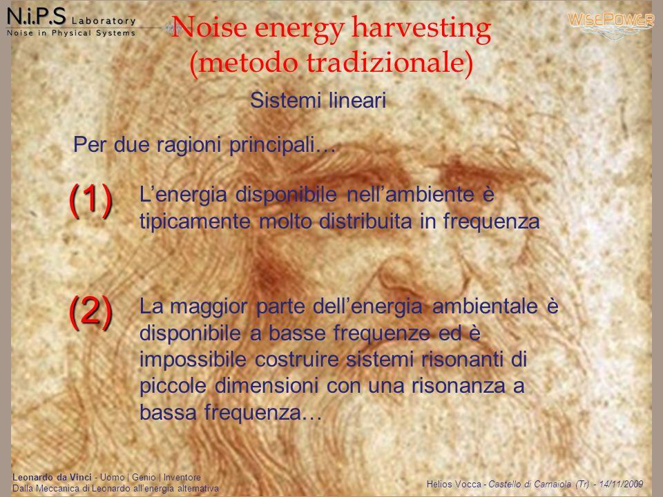 Noise energy harvesting (metodo tradizionale)