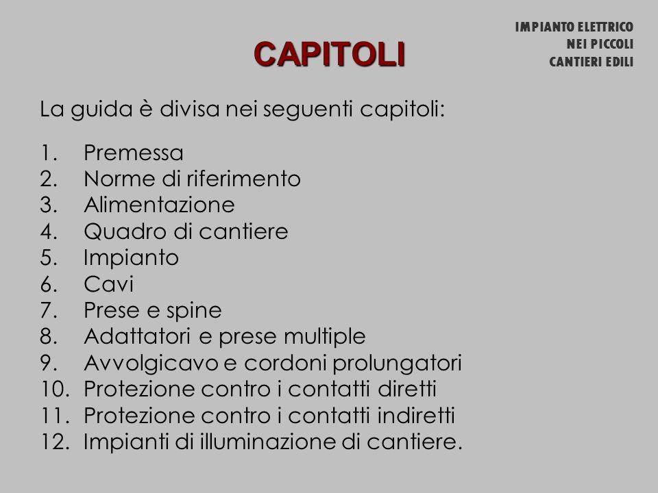 CAPITOLI La guida è divisa nei seguenti capitoli: Premessa