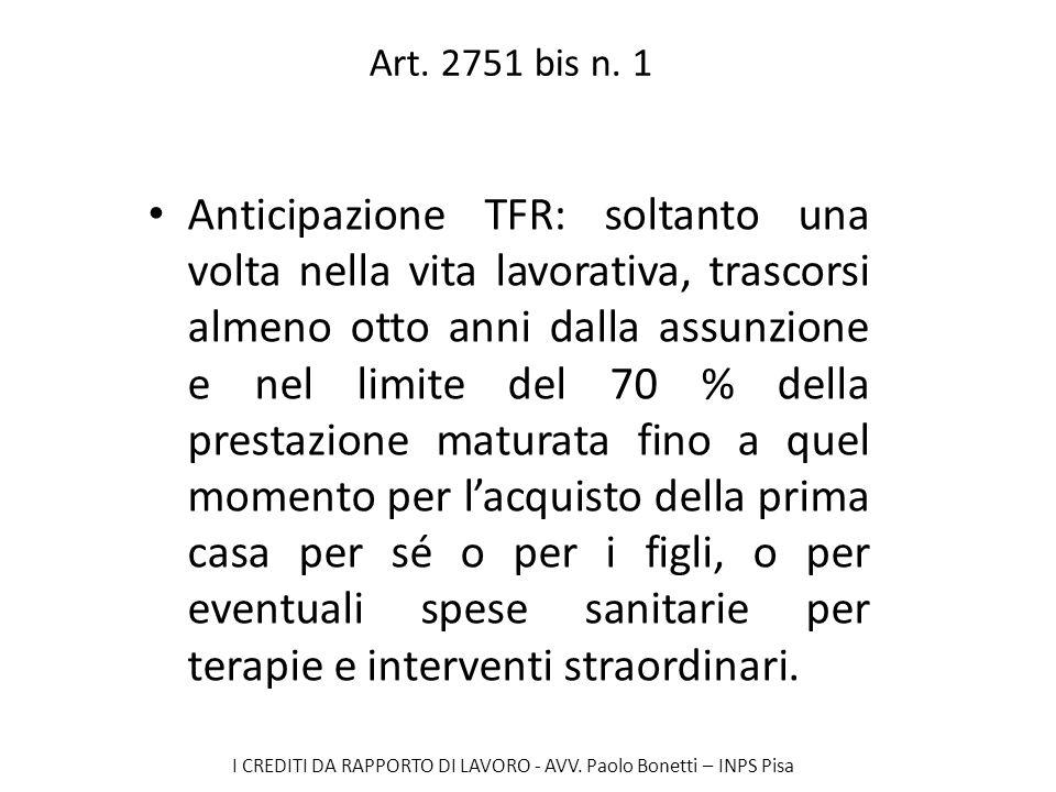 Art. 2751 bis n. 1