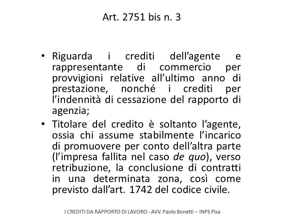 Art. 2751 bis n. 3
