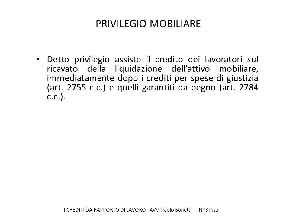 PRIVILEGIO MOBILIARE